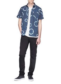 DENHAM Kamon品牌标志印花纯棉T恤