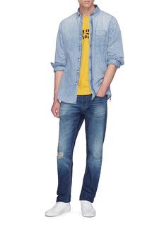 DENHAM 品牌标志印花纯棉T恤