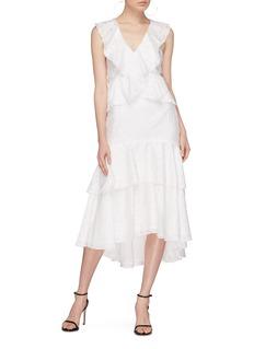 C/MEO COLLECTIVE  Magnetise层叠荷叶边高腰半身裙