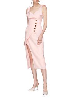 C/MEO COLLECTIVE  Definitive不对称包裹式连衣裙