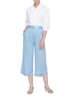TIBI 褶裥青年布露踝裤