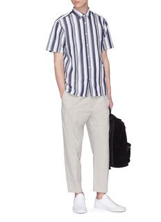 THEORY Irving拼色条纹修身衬衫