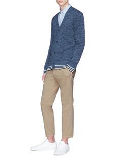 THEORY Canelos拼色条纹针织外套