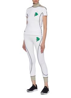 Fendi Sport Karlito高尔夫人像格纹布拼接T恤