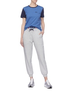 LNDR Spring品牌标志拼色混有机棉功能T恤