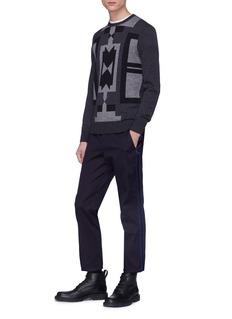 NEIL BARRETT 缎面布饰修身斜纹布长裤