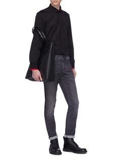 NEIL BARRETT 侧条纹水洗修身牛仔裤