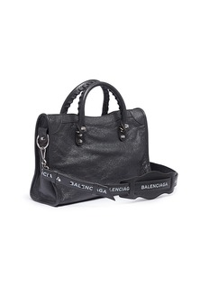 BALENCIAGA Classic City小号品牌名称小羊皮手提包