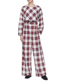 MS MIN 格纹纯棉宽松衬衫