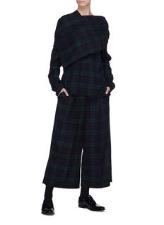 MS MIN 格纹搭叠不对称混羊毛上衣
