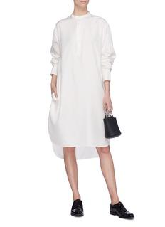 MS MIN 落肩设计真丝衬衫裙