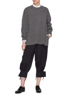 MS MIN 羊绒罗纹针织衫