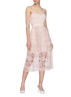 SELF-PORTRAIT 花卉蕾丝吊带裙