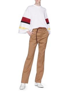 TOGA ARCHIVES 拼接设计宽衣袖纯棉上衣