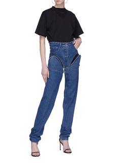 Y/Project 中性款可拆式裤腿高腰牛仔裤