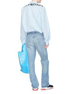 BALENCIAGA 品牌名称拼色条纹衬衫
