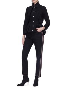 Alexander McQueen 侧条纹布饰牛仔裤