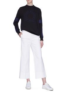 VICTORIA, VICTORIA BECKHAM 品牌名称刺绣拼色条纹纯棉卫衣