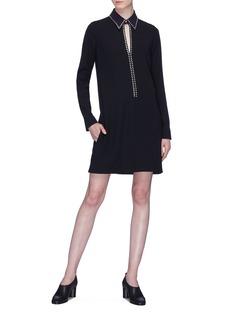 VICTORIA, VICTORIA BECKHAM 镂空设计仿水晶铆钉连衣裙