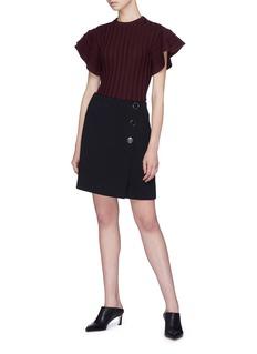 VICTORIA, VICTORIA BECKHAM 钮扣设计包裹式半身裙