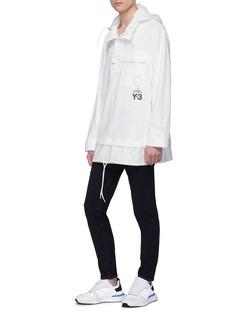 Y-3 Sashiko拼接设计有机棉连帽卫衣