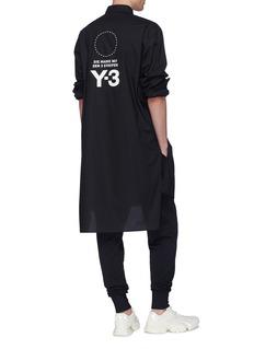 Y-3 Stacked品牌标志及标语oversize长款衬衫