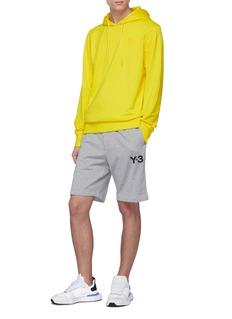 Y-3 品牌名称修身鱼鳞布抽绳短裤