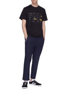 Y-3 品牌名称及标语印花纯棉T恤