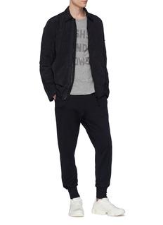 Y-3 Classic品牌标志修身鱼鳞布休闲裤