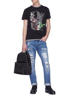 Alexander McQueen 骷髅头印花纯棉T恤
