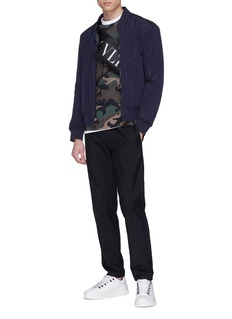 Valentino VLTN品牌名称迷彩纯棉T恤