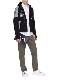VALENTINO 电子游戏主题珠饰刺绣纯棉衬衫