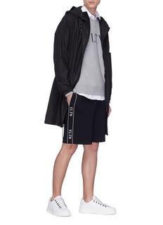 VALENTINO VLTN品牌名称印花纯棉短袖衬衫