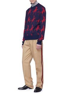 Calvin Klein 205W39NYC Knives插画图案羊毛混羊驼毛针织衫