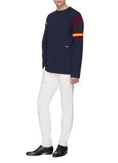 Calvin Klein 205W39NYC 拼色针织条纹纯棉上衣