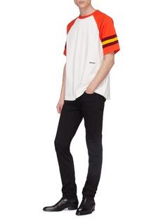 Calvin Klein 205W39NYC 针织条纹拼色纯棉T恤