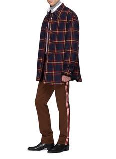 Calvin Klein 205W39NYC 人造皮毛内衬格纹衬衫