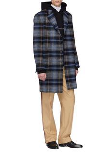 Calvin Klein 205W39NYC x Pendleton Woollen Mills初剪羊毛格纹大衣
