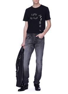 SAINT LAURENT 英文字标语印花纯棉T恤