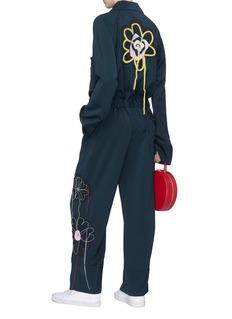 MIRA MIKATI 缝线图案及绳编点缀花卉拼贴连体裤