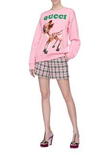 GUCCI 品牌名称小鹿斑比花卉印花卫衣