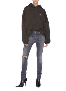 Balenciaga 品牌名称刺绣oversize连帽卫衣