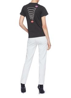 BALENCIAGA 螺旋印花品牌名称刺绣纯棉T恤
