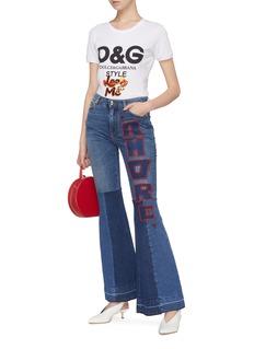 DOLCE & GABBANA Look at Me亮片点缀品牌名称纯棉T恤