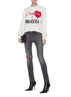 DOLCE & GABBANA L'Amore è Bellezza爱心短款羊绒针织衫