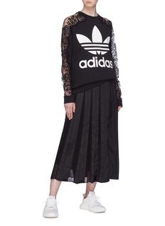 STELLA MCCARTNEY x adidas蕾丝拼接纯棉卫衣