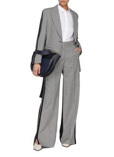 STELLA MCCARTNEY Reine拼接设计格纹羊毛喇叭裤