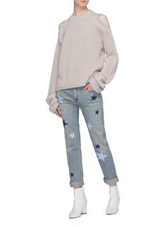 STELLA MCCARTNEY 五角星图案有机棉质水洗牛仔裤