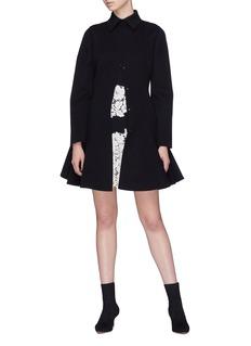 Valentino 初剪羊毛混羊绒喇叭外套