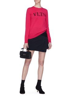 Valentino VLTN品牌名称初剪羊毛混羊绒针织衫